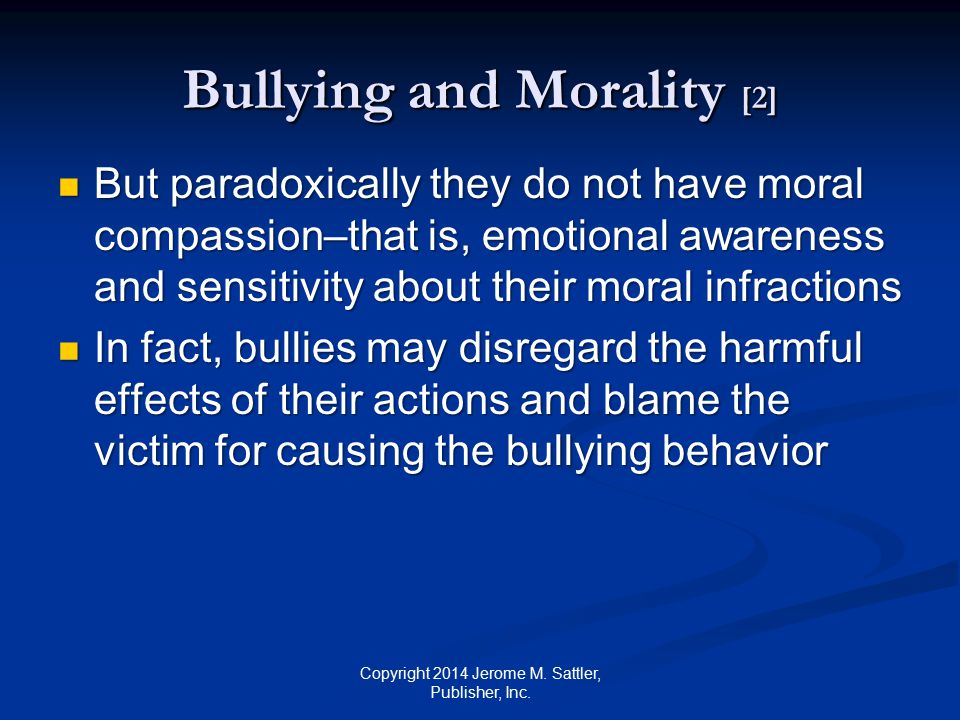 Bullying and Morality [2]